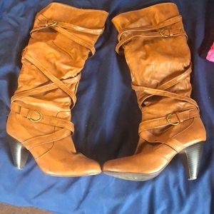 Dark caramel boots